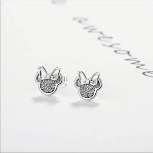 Jewelry - Brand New Minnie Mouse Silver Stud Earrings